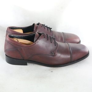 FLORSHEIM Welles Burgundy Cap Toe Oxford Shoes